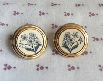 Vintage Barlow Floral  Earrings, Barlow Jewelry