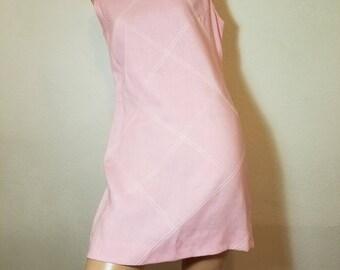 FREE  SHIPPING   1960 Linen  Mini  Dress