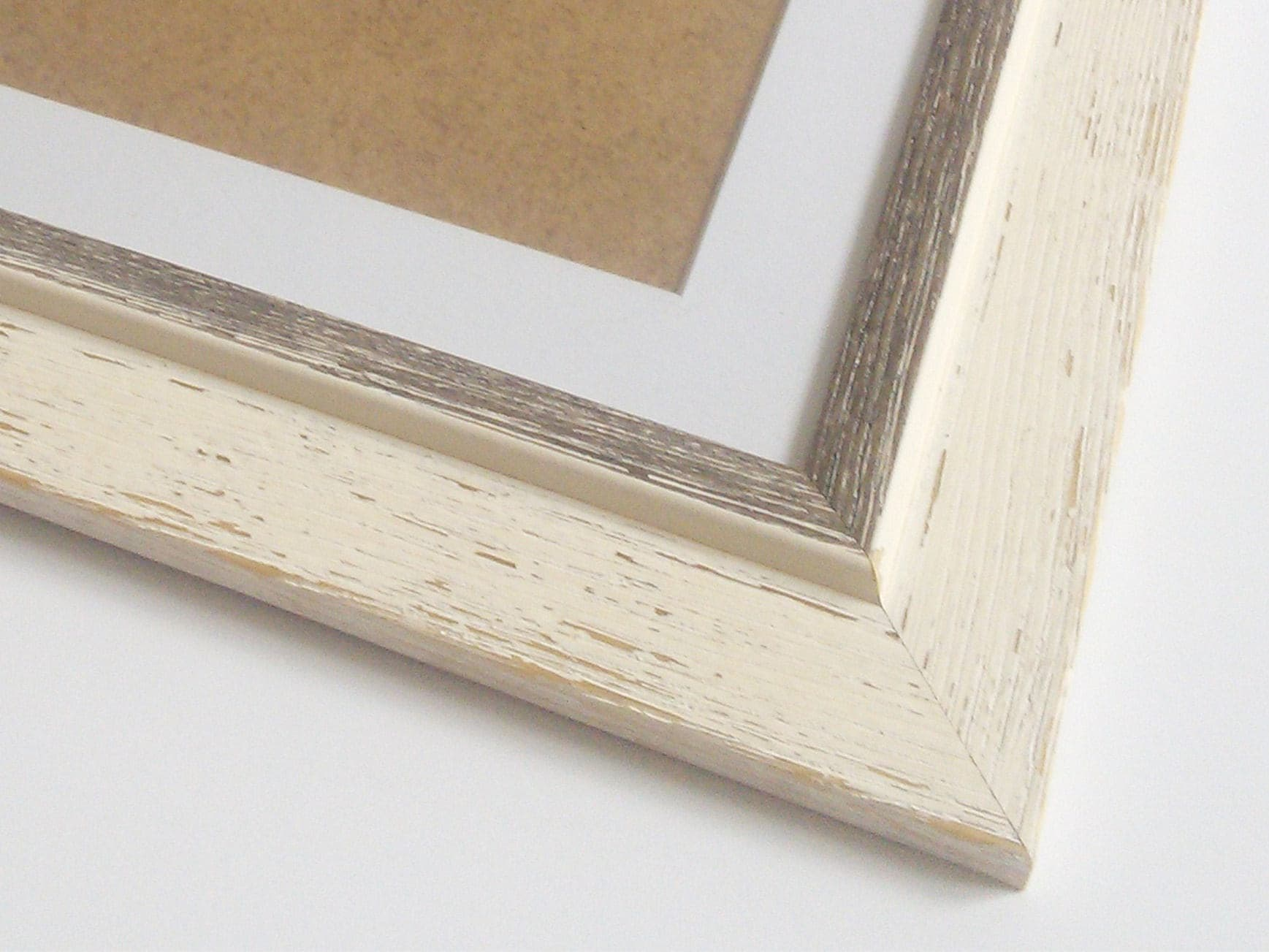 Poster frame A2 picture frame white distressed frame wood frame ...