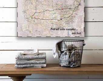 custom travel road map canvas personalized road map us road map custom canvas map create your own canvas