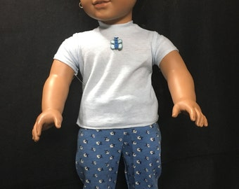 Short Sleeve Top and Pant Outfit for American Girl Dolls
