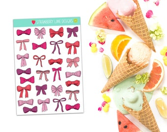 Mini Pink Bow Stickers