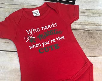 Baby outfit, baby bodysuit, baby Christmas outfit, baby Christmas shirt, Christmas bodysuit,  baby girl outfit, baby boy outfit