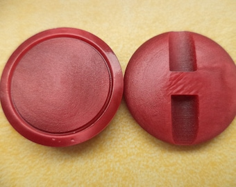 10 BUTTONS 23mm red (6173) button