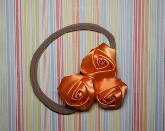 One size nylon headband - orange