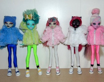 A set of doll clothes, Monster High, Ever After High.