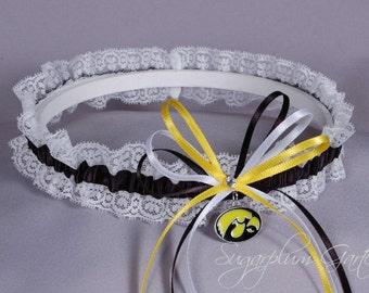 University of Iowa Hawkeyes Lace Wedding Garter