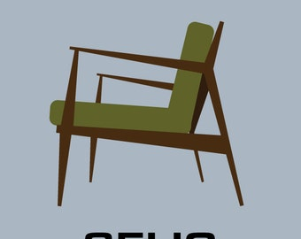 Selig Armchair - Art Print