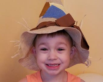 Toddler 3 patch scarecrow hat