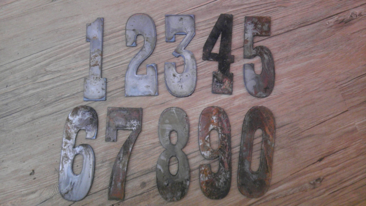 1 Inch Metal Letters 6 Inch Letters Numbers Per Number Rusty Vintage Western Style