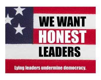 Printable Postcard for writing to Members of Congress. Tell the government what you want from them! Resistance Postcards: HONEST LEADERS