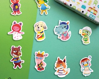 Choose | Animal Crossing Villagers #6 stickers | Octavian Biskit Puddles Daisy Bertha Scoot Rasher Velma Chief Pate