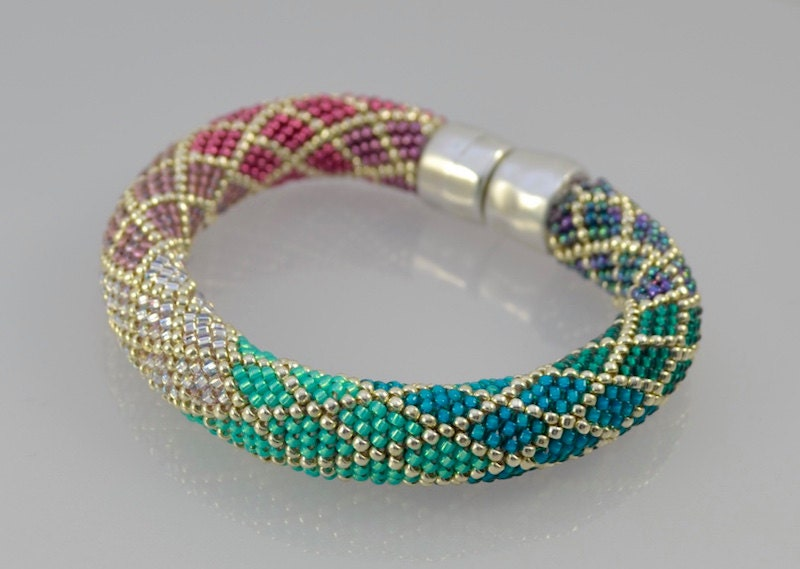 Bead Crochet With Single Stitch Ombre Bracelet Kit Bead Crochet Bead