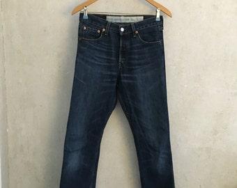 Levi Strauss Levi's Jeans 501 W28 L32 LTD Edition Rockabilly Hepcat Cowboy Turnup Retro Vintage