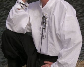 Renaissance/Pirate Men's Shirt in Size Small to 5XL Large-Several Colors