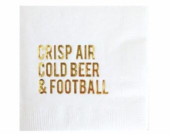 Décorations de Super Bowl de serviettes - porte serviettes de table - football