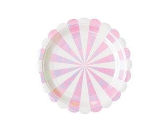 Iridescent Paper Plates, Small, Princess, Fairy Tale, Theme, Tableware, Party Supplies, Meri Meri