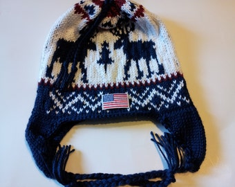 2010 Winter Olympic  Inspired  Earflap  slouchy Beanie (Made to Order)olympic opening ceremony  winter olympic earflap slouchy  hat