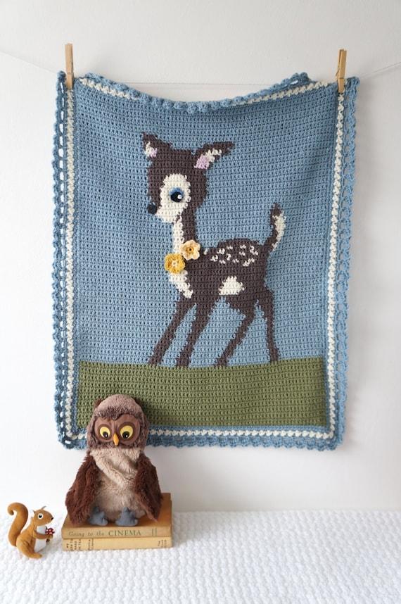 Woodland Kindergarten Deer Decke Muster für junge Decke