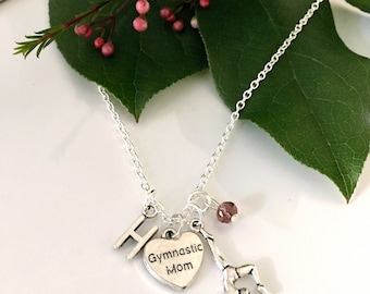 Personalized Gymnast Mother Necklace