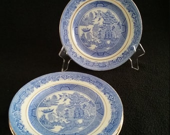 Vintage Blue Willow Bread and Butter / Side Plate