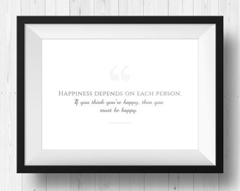 Quote poster - printable pdf and jpg