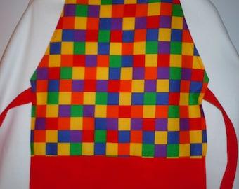 Children's apron, childs craft apron, childs chef apron, toddler apron, art apron