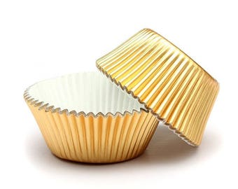 Set of 20 boxes cupcakes - gold.