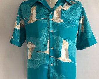 Vintage Men's 70's Tori Richards, Hawaiian Shirt, Polyester, Short Sleeve (XL)