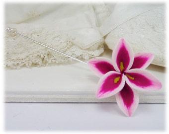 Stargazer Lily Brooch or Stick Pin - Stargazer Lily Jewelry
