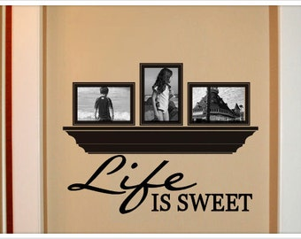 Life is sweet vinyl wall decal