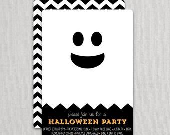 Modern Ghost Invitations | Swanky Press - Halloween party