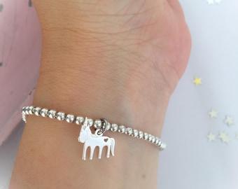 Dream Big - Unicorn bracelet with 925 silver beads
