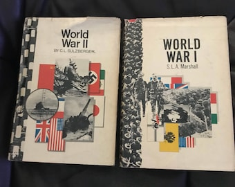 Set of 2 Hard cover books World War II and I American heritage press 1970s