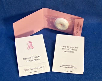 50 Personalized Breast Cancer Awareness Mintbook Matchbook Style Party Favors