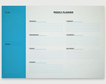 Weekly Planner- Printable Planner with To Do List, Minimalist Planner, Digital File, INSTANT DOWNLOAD