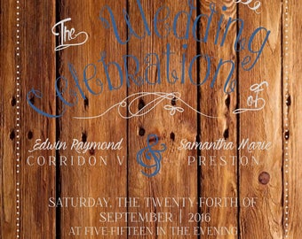 Wooden Wedding Invitations Suite