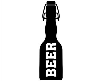 BEER BOTTLE Decal Sticker Car Decal Laptop Decal / Choose Size and Color