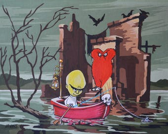 "Frightful Fishing (Signed Print) 16"" x 20"""