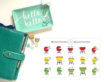 Barbeque / BBQ / Grill Planner, Penpal and Journalling Stickers