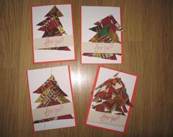 Set of 4 Christmas cards