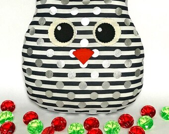 Owl Pillow decoration owl gift ideas blue dost stripe gifts for children