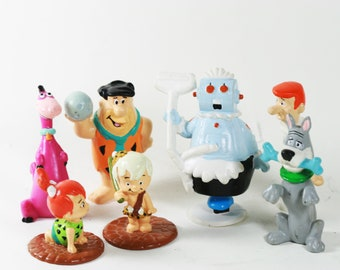 Flinstones and Jetsons Figurines - PVC miniature collectibles -7 pieces