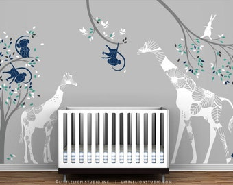 Kids Playroom Wall Decal Set - Eat, Play and Sleep - Special Editions by LittleLion Studio