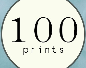 100 PRINTS - SINGLE SIDED Printed Invitations Cards - 120485662
