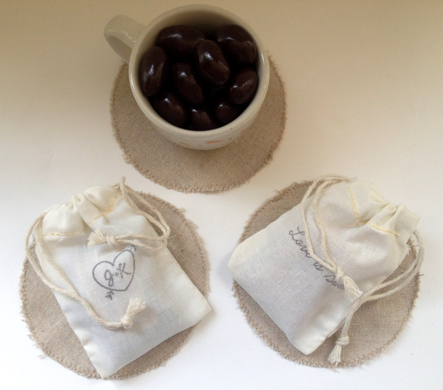 Love is Sweet. Unique Chocolate Bridal Shower Favors. Set of