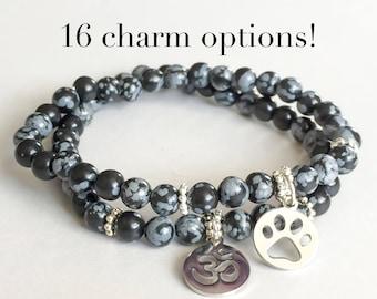 Mother' Day // Snowflake Obsidian Custom Healing Bracelet