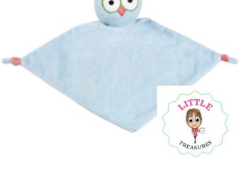 Personalised baby cubbie comforter