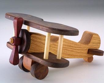 Biplane Handmade Wood Airplane wood toys