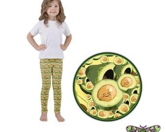 Super Sweet Avocado Baby Pattern Kid's leggings